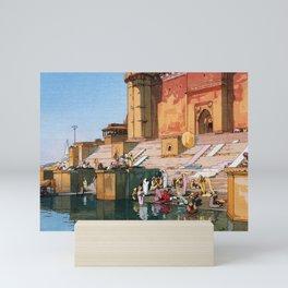 12,000pixel-500dpi - Yoshida Hiroshi - The Ghat At Varanasi - Digital Remastered Edition Mini Art Print