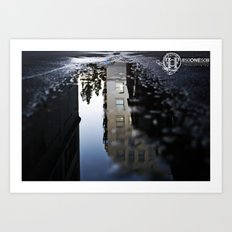 building a reflection  Art Print