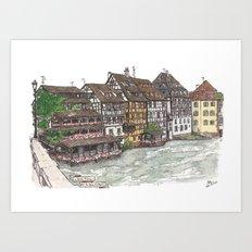 Petite France, Strasbourg Art Print