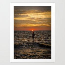 Sunset Maiden  Art Print