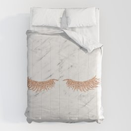 Rose gold marble lash envy Comforters