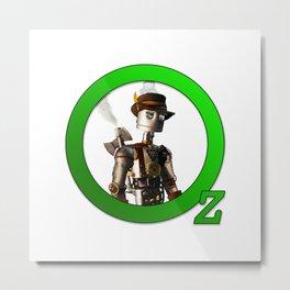 Steamed Up Tin Man of Oz Metal Print