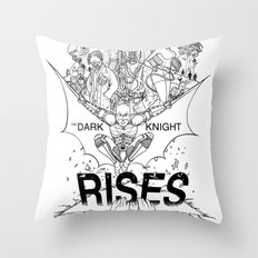 TDKR - B&W you're COLOR promo Throw Pillow