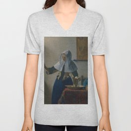 "Johannes Vermeer ""Young Woman with a Water Pitcher"" Unisex V-Neck"