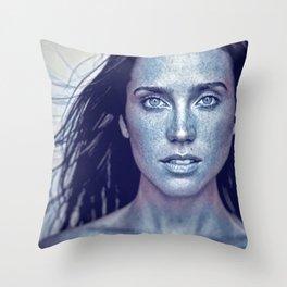 JC Blue Throw Pillow