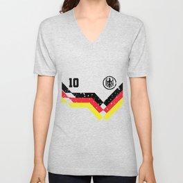 Germany Flag Eagle 10 Soccer Gift Unisex V-Neck
