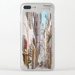 Sketches from Italy - Florence Clear iPhone Case