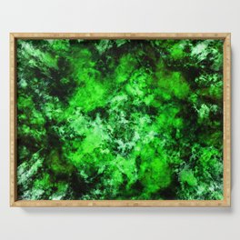 Green burst Serving Tray