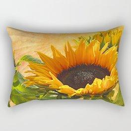 Good Morning Sunflower Rectangular Pillow
