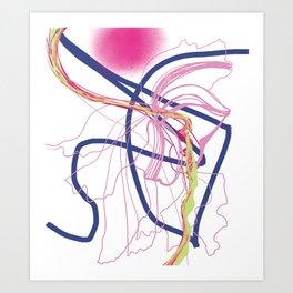sun and moon : nature's capillary #14 Art Print