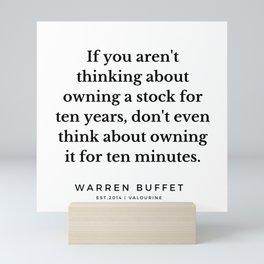 48    Warren Buffett Quotes   190823 Mini Art Print
