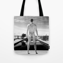 Bare Butt Black Pool Tote Bag