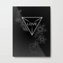 Artistic Love Metal Print