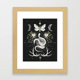 Full Moon Magic On Black Framed Art Print