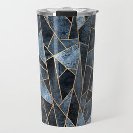 Shattered Soft Dark Blue Travel Mug