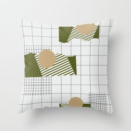 Checks Lines Grid Throw Pillow