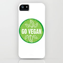 GO VEGAN, green circle (2) iPhone Case