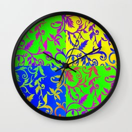 Patchwork Riot Wall Clock