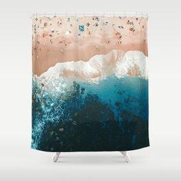 Bronte Beach | Aerial Photography  Shower Curtain