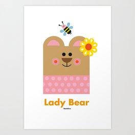 Lady Bear Art Print