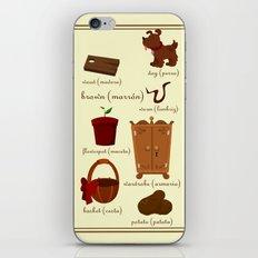 Colors: brown (Los colores: marrón) iPhone & iPod Skin