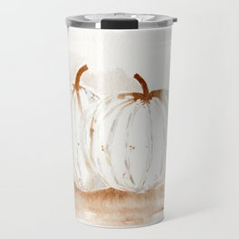 White Pumpkins Travel Mug