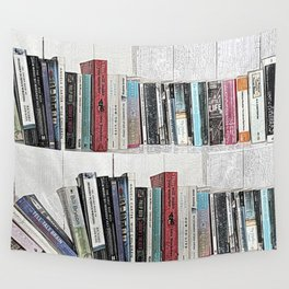 Book shelf love- we are what we read Wall Tapestry