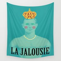 thrones Wall Tapestries featuring La jalousie by Laura Nadeszhda