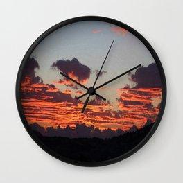 Aegean Sunset Wall Clock