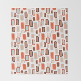 Retro Rectangles Throw Blanket