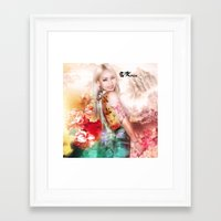 2ne1 Framed Art Prints featuring Ciel of 2ne1 queen of china by LC_Korim