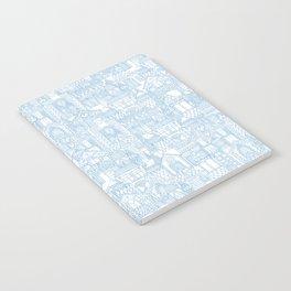 gingerbread town blue Notebook