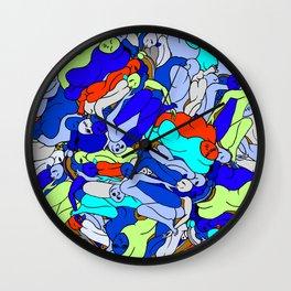 Sleepy Heads - Sapphire Blue Wall Clock