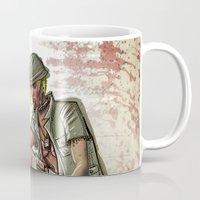 tank girl Mugs featuring Tank Girl by Joe Badon