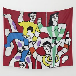 Fernand Léger The Acrobats 1942 (Les Acrobates) Artwork Reproduction, Tshirts Posters Bags for Men Women and Kids Wall Tapestry