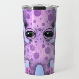 Cute Purple and Blue Baby Octopus Travel Mug