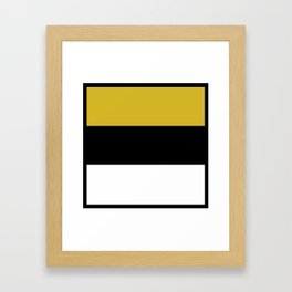 Team Colors 8...Gold ,black and white Framed Art Print