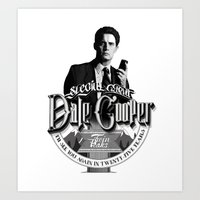 dale cooper Art Prints featuring Dale Cooper - Twin Peaks by KevinART