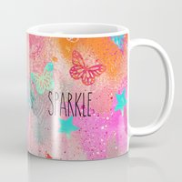 sparkle Mugs featuring Sparkle by SannArt