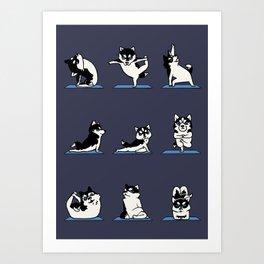 Husky Yoga Art Print