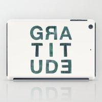 helvetica iPad Cases featuring Helvetica Gratitude by Hey Tori!