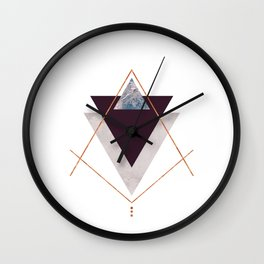 PLUM COPPER AND BLUSH GEOMETRIC Wall Clock