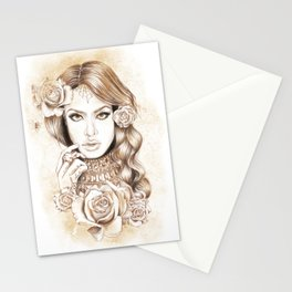 Aaliyah Vintage Art Stationery Cards