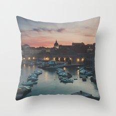 red sky at night ... Throw Pillow