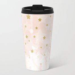 Gold stars on blush pink Travel Mug