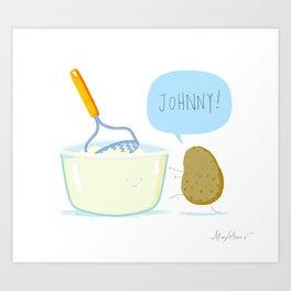 JOHNNY! Art Print