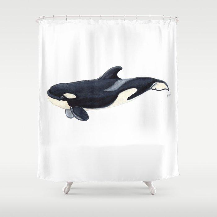 Baby Orca Shower Curtain By Chloeyzoard