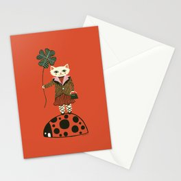 Lucky Cat, Red Stationery Cards