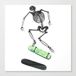 Skeleton Skater Canvas Print