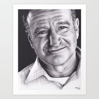 robin williams Art Prints featuring Robin Williams by Brittni DeWeese